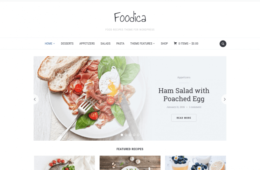 Foodica Food Blog Magazine WordPress Theme