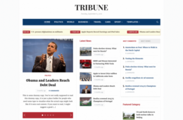 Tribune Magazine Newspaper WordPress Theme