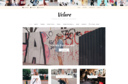Velure Blog Fashion Magazine WordPress Theme