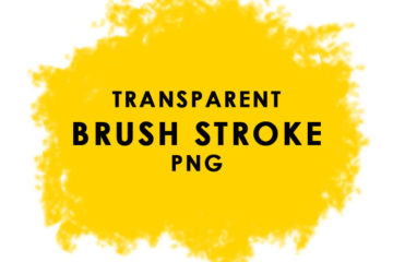 Free Download Yellow Color BRUSH STROKE PATTERN PNG