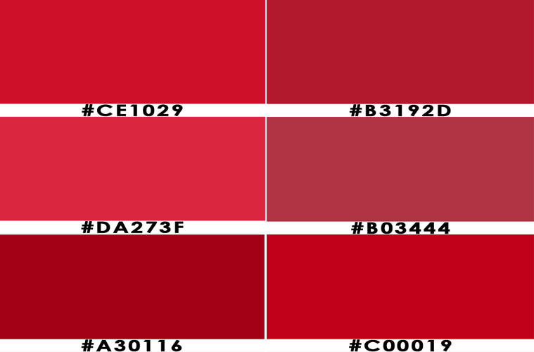 red color hex codes